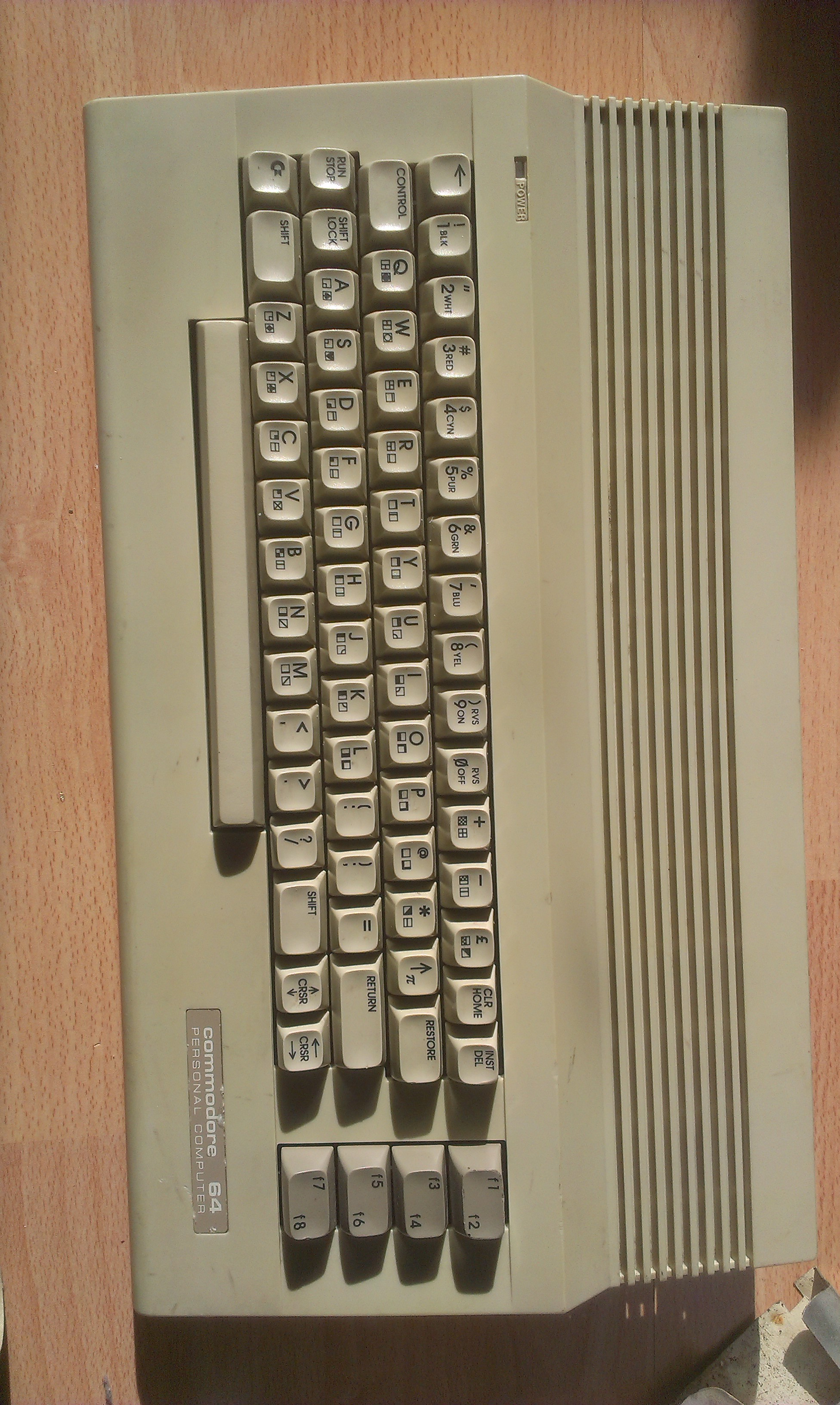 Cleaned Commodore 64