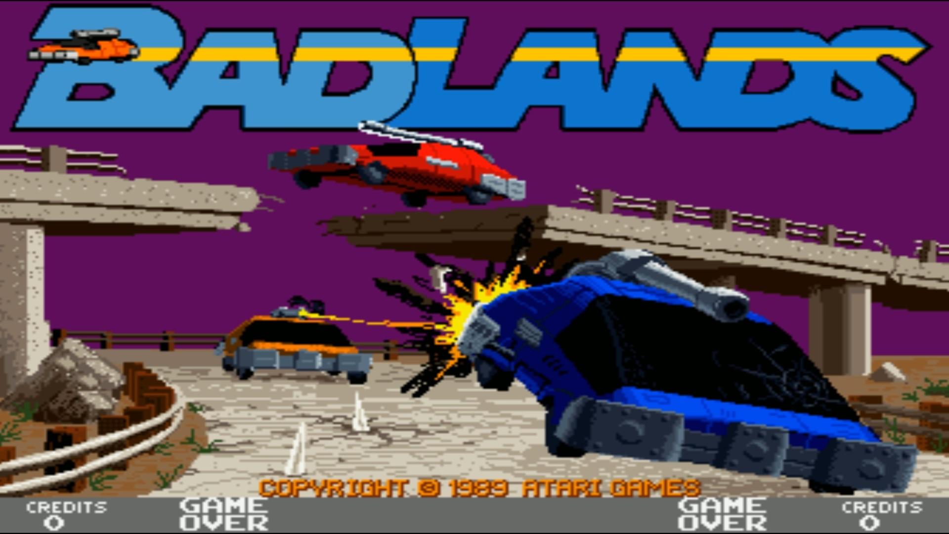 Badlands arcade game from 1989